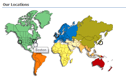 A Matter Of Degree Clickable world map for SharePoint to navigate